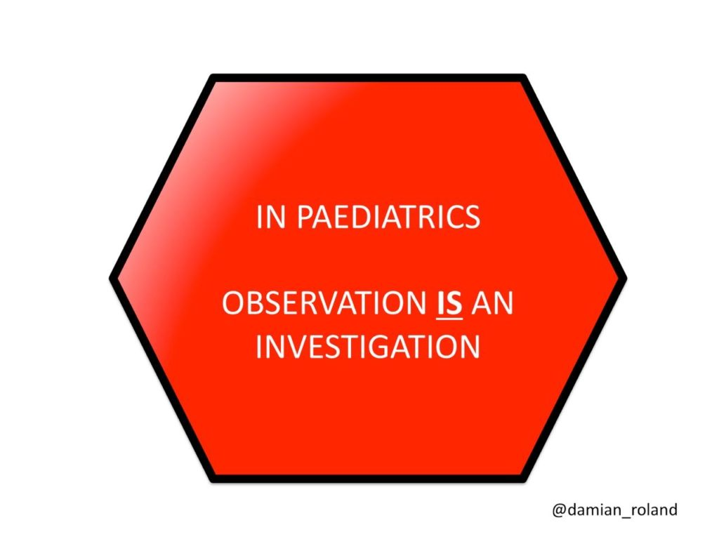 Observation is an investigation