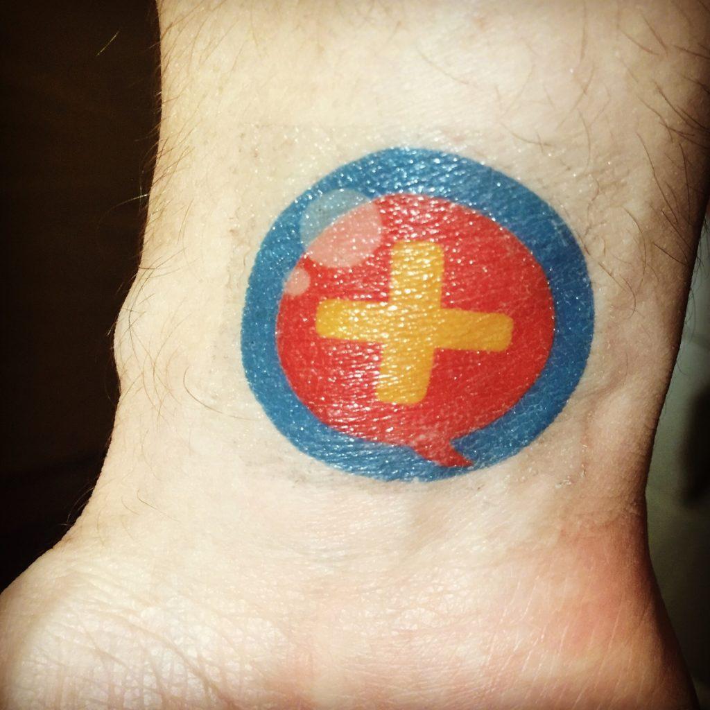 DFTB logo tattoo
