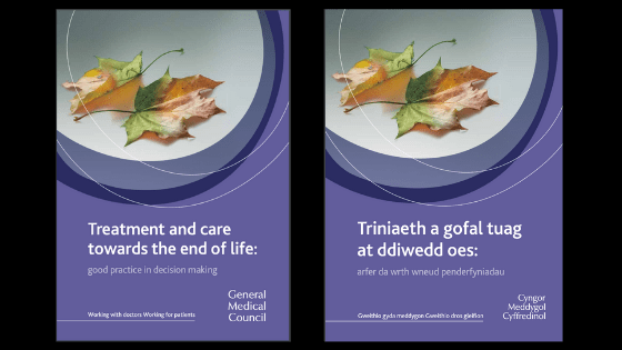 Covers of GMC guidelines