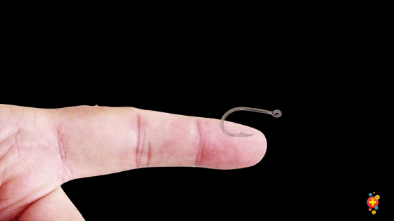 Hook in finger