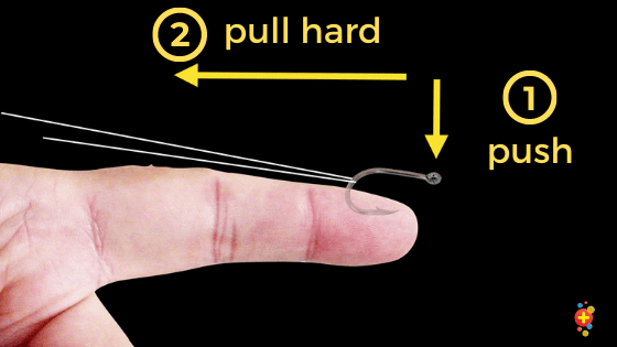 Pull the string to release the hook
