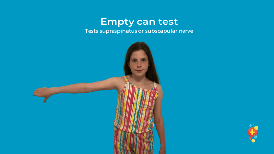 Girl performing empty can test