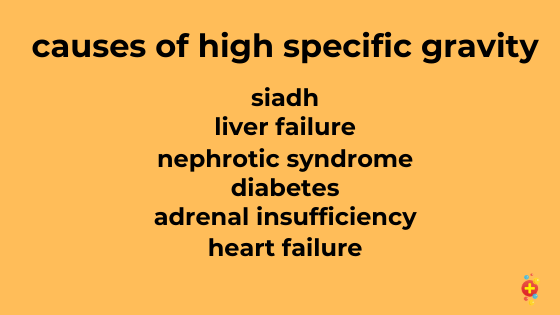 A list of causes of high specific gravity