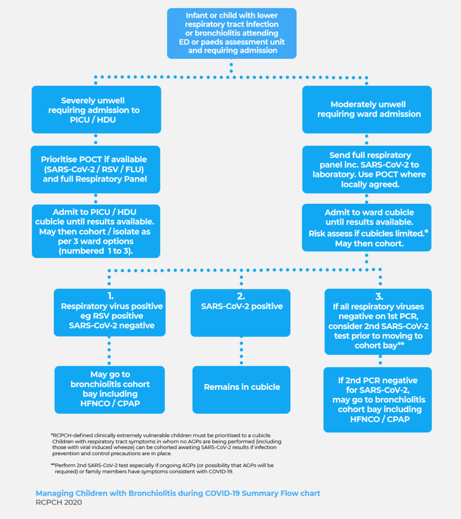 COVID and RSV flow chart