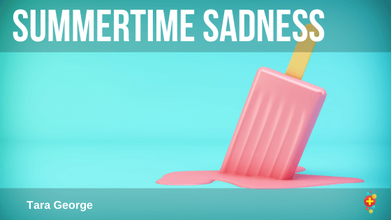 Molten ice cream reflecting a sad summer